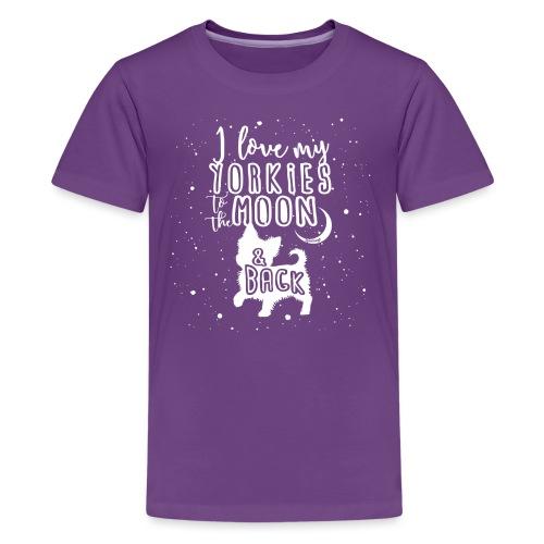 Yorkie Moon - Teinien premium t-paita
