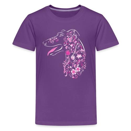 Kukkaisgalgo II - Teinien premium t-paita
