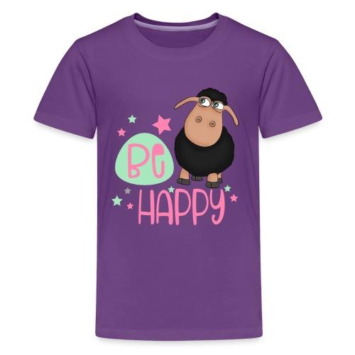 Schwarzes Schaf - be happy Schaf Glückliches Schaf - Teenager Premium T-Shirt