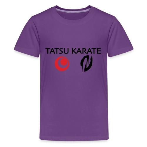 Tatsu Karate med två logo - Premium-T-shirt tonåring