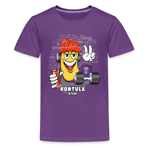 KONTULA SKATE - STADI - Skater Helsinki - Teinien premium t-paita
