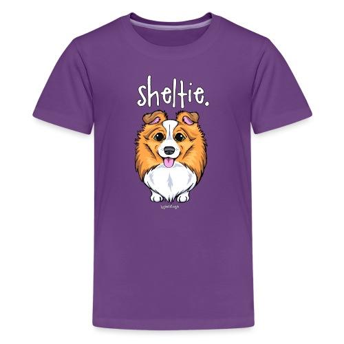 Sheltie Dog Cute 5 - Teinien premium t-paita