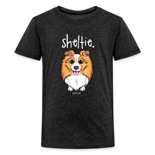 Sheltie Dog Cute 5 - Teenage Premium T-Shirt