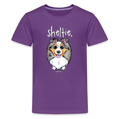 Sheltie Dog Cute 4 - Teenage Premium T-Shirt