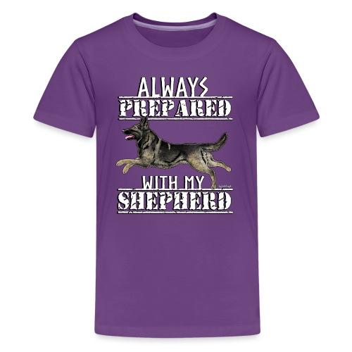 Shepherd Prepared GSD 3 - Teinien premium t-paita