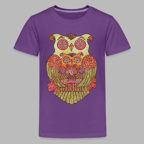 Owl Family - Teenage Premium T-Shirt