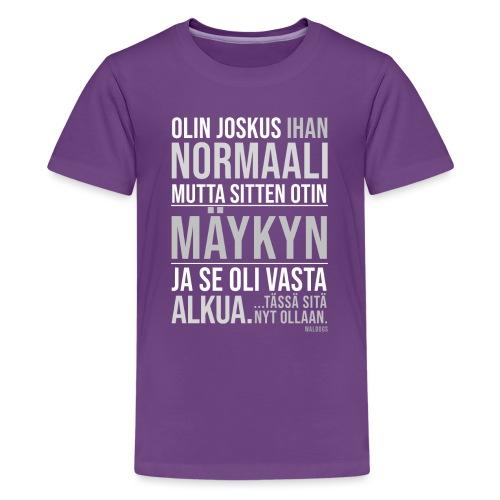 Vasta Alkua Mäykky II - Teinien premium t-paita