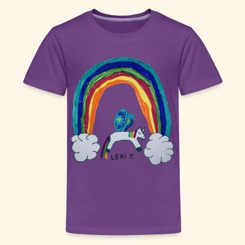 LeniT For Unicorns Only - Teinien premium t-paita