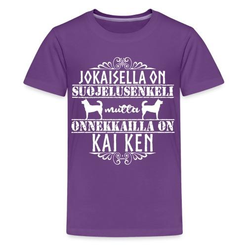 Kai Ken Enkeli - Teinien premium t-paita