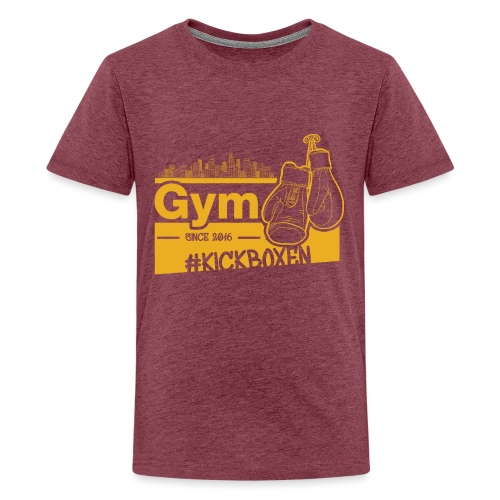 Gym Druckfarbe Orange - Teenager Premium T-Shirt