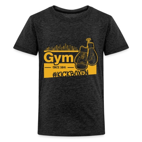 Gym Druckfarbe Orange - Teenager Premium T-Shirt
