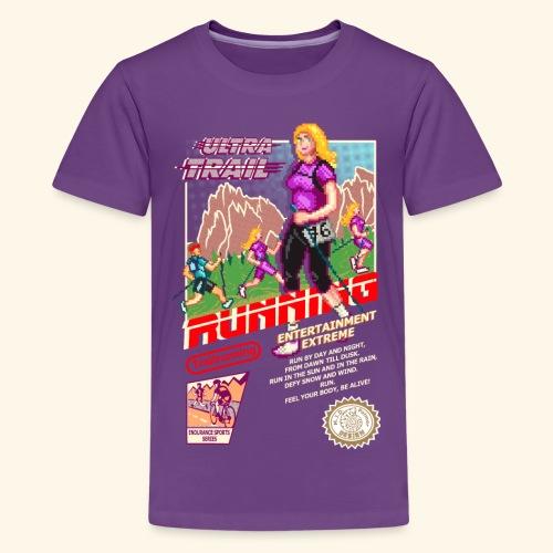 ULTRA TRAIL RUNNING (FAST GIRL) - Maglietta Premium per ragazzi