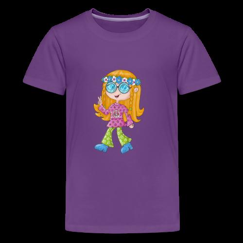 Hippie Girl - Teenager Premium T-Shirt