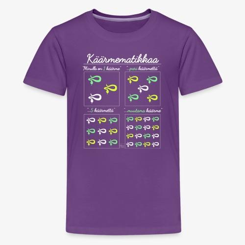 Käärmematikkaa II - Teinien premium t-paita