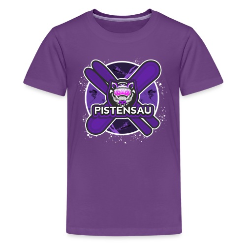 PistenSau Dunkle Orchidee - Teenager Premium T-Shirt