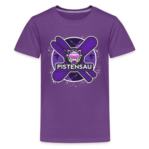 PistenSau Dunkle Orchidee - Teenager Premium T-Shirt