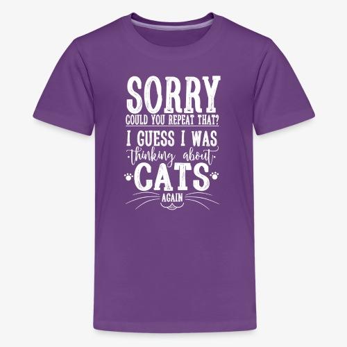 Sorry Cats II - Teinien premium t-paita