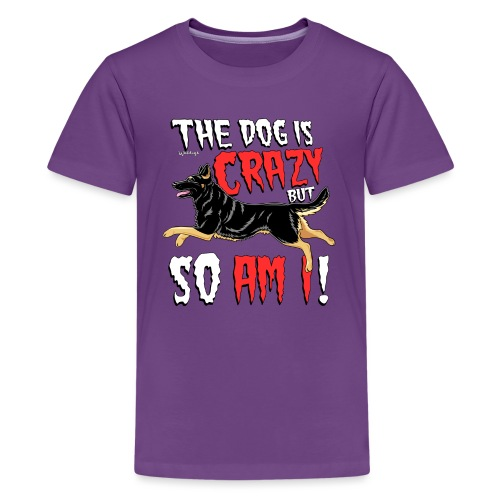 German Shepherd Crazy 4 - Teinien premium t-paita