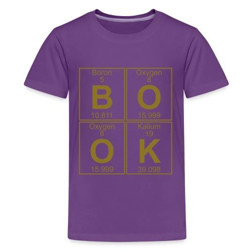 B-O-O-K (book) - Full - Teenage Premium T-Shirt