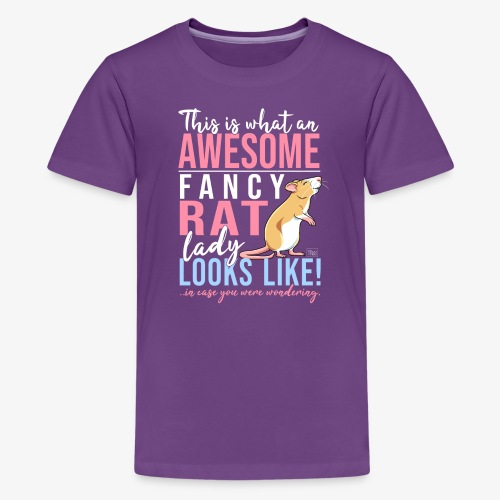 Fancyrat Awesome V - Teinien premium t-paita