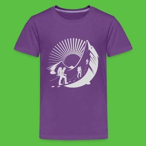 Climbing Mountain - Teenager Premium T-Shirt