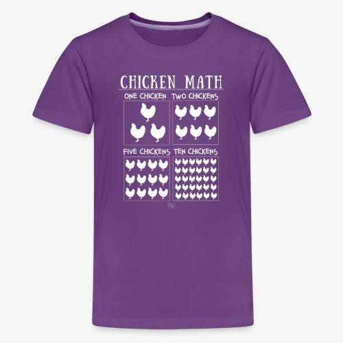 Chicken Math - Teinien premium t-paita