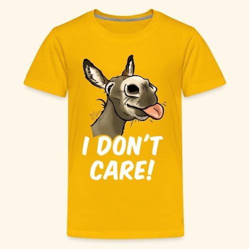 Ane I don't care! (texte blanc) - T-shirt Premium Ado