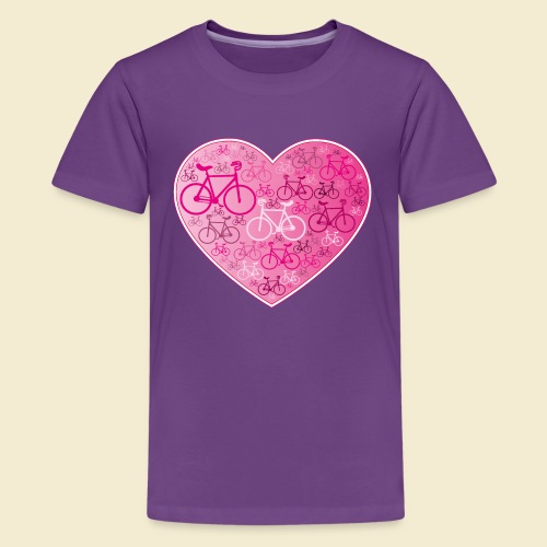 Kunstrad | Mein Herz rosa - Teenager Premium T-Shirt