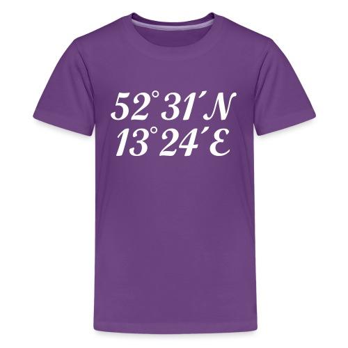 Berlin Koordinaten - Teenager Premium T-Shirt