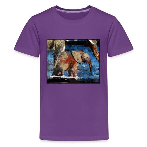 Baby-Elefant - Teenager Premium T-Shirt