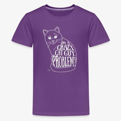 Crazy Cat Guy II - Teinien premium t-paita