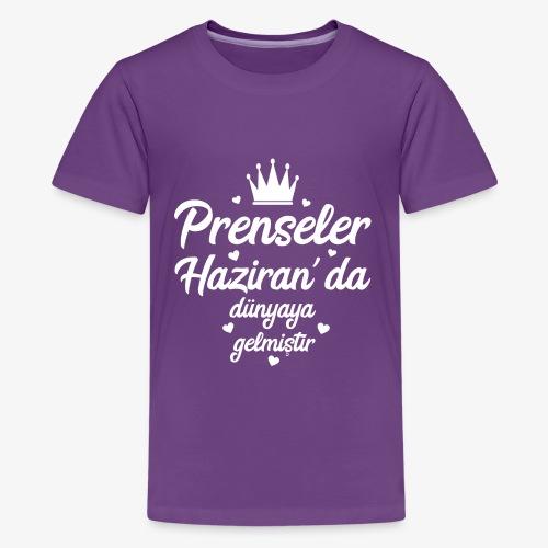 Echte Prinzessinnen werden im Juni geboren - Teenager Premium T-Shirt