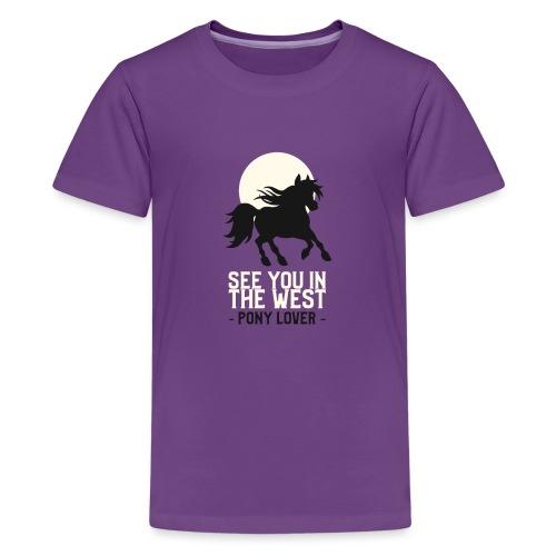 Silhouet pony design voor ponyliefhebbers - Teenager Premium T-shirt
