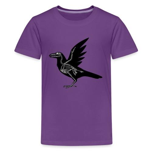 Raben-Skelett - Teenage Premium T-Shirt