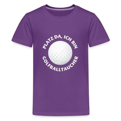 Golfballtaucher Golf Geschenk für Golfer - Teenager Premium T-Shirt