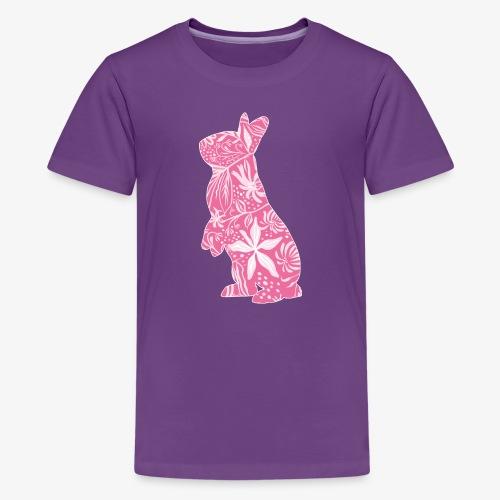 Flower Bunny II - Teinien premium t-paita