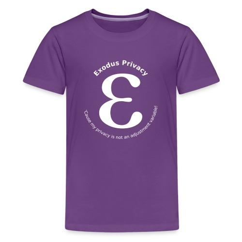 Exodus privacy avec Logo et slogan - T-shirt Premium Ado