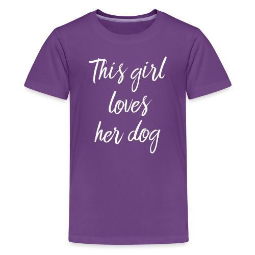 thisgirllovesherdog - Teinien premium t-paita