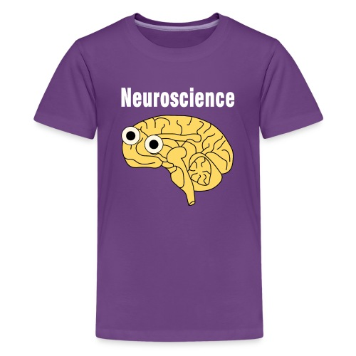 Neuroscience Brain White Text - Teenage Premium T-Shirt
