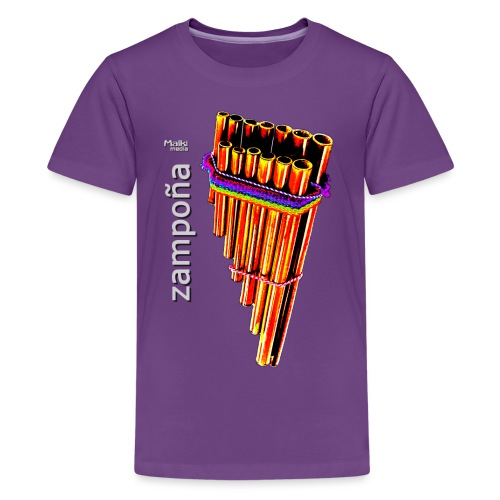 Zampoña clara - Camiseta premium adolescente