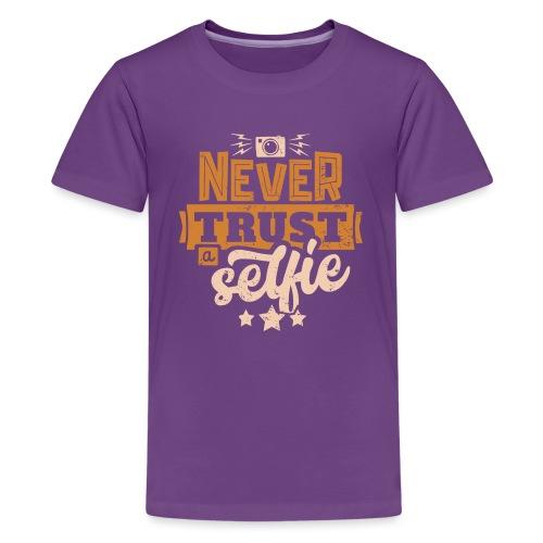Never trust - Premium-T-shirt tonåring