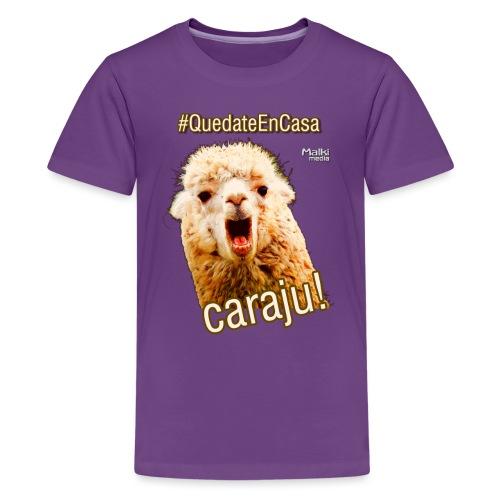Quedate En Casa Caraju - Teenager Premium T-Shirt