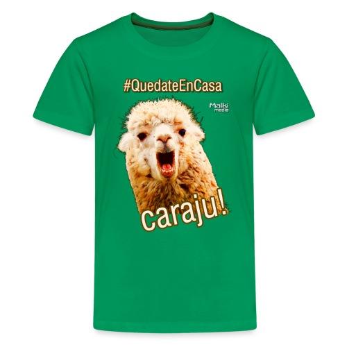 Quedate En Casa Caraju - Teenage Premium T-Shirt