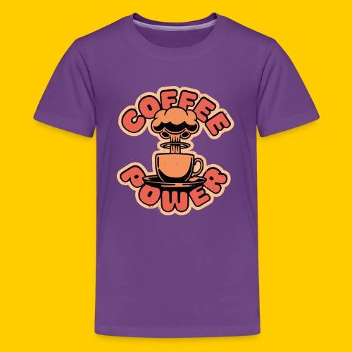 Coffee power - Premium-T-shirt tonåring