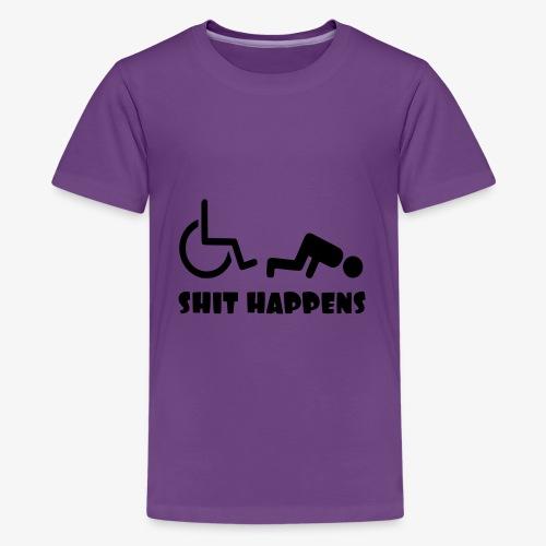 Het zit soms ook tegen in je rolstoel - Teenager Premium T-shirt