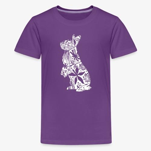 FlowerBunny - Teinien premium t-paita