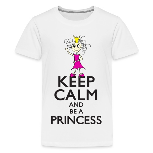 Keep calm an be a princess - Teenager Premium T-Shirt