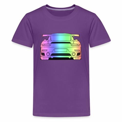 cool car rear colourful - Teenage Premium T-Shirt