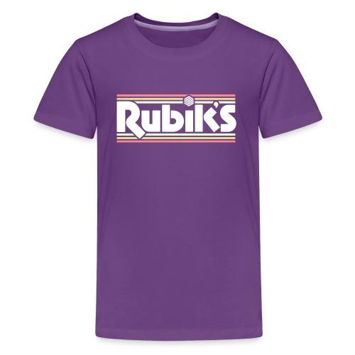 Rubik's Cube Retro Logo - Teenage Premium T-Shirt