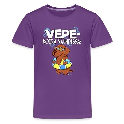 vepevauhti2 - Teinien premium t-paita